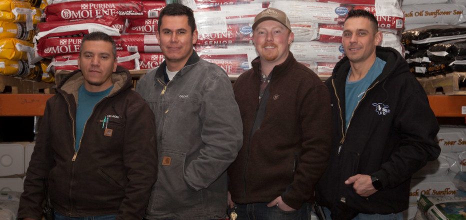 Your Co-op warehouse staff (left to right): Heladio Sanchez, Oscar Torres, Adam Bugner, Troy Robb